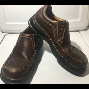 Men's BORN slip on brown loafer shoes size 10